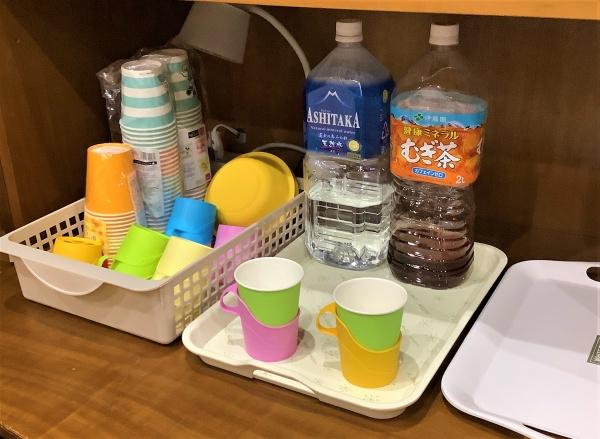 新森13 紙コップでの飲み物の提供